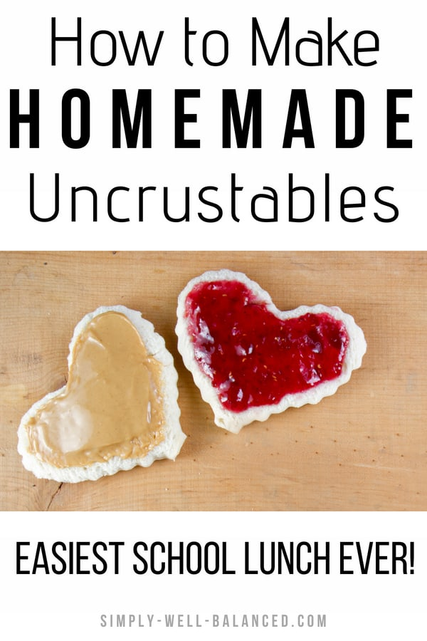 Looking for quick and easy school lunch ideas for kids? Check out this hack for making your own homemade freezer uncrustables. This make ahead version is perfect for preschoolers, elementary students and even adults love them. An easy, cheap and healthy solution to make at home. Use your own ingredients to make your kiddos happy. Perfect for picky eaters who won\'t eat the crust #backtoschool #schoollunch #lunch