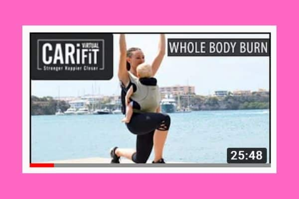 Baby carrier workout: Whole Body Burn CARiFit