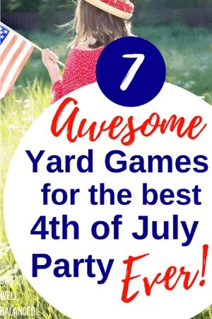 Yard Games for Patriotic parties
