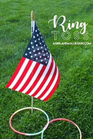 Patriotic Ring Toss Party Game