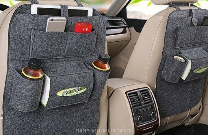 Car organizers for moms to keep the car clean with kids.
