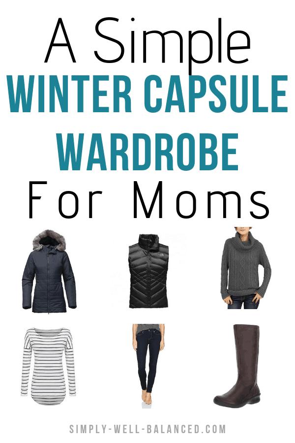 A simple winter capsule wardrobe checklist for women.