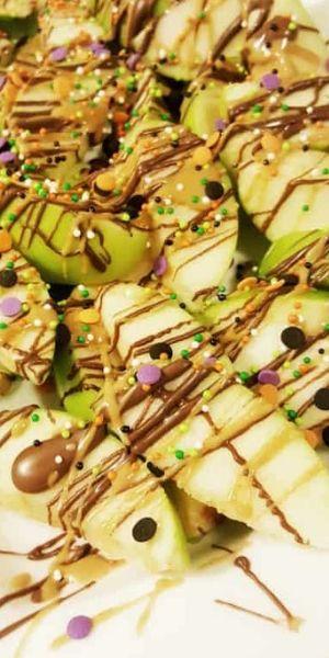 Halloween Apple Nachos Snack