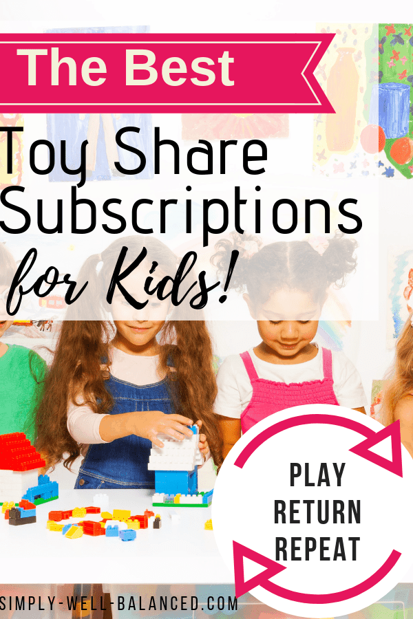 kids playing with a toy share subscription box