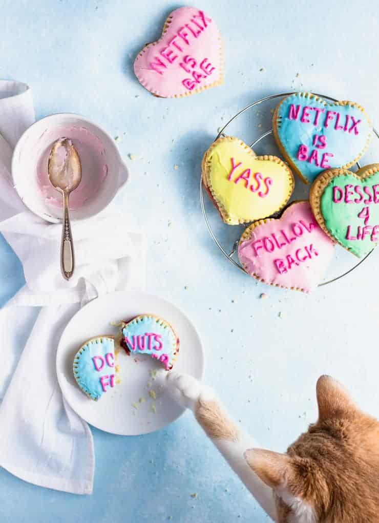 Conversation Heart Valentine's Day breakfast Pop tarts for kids