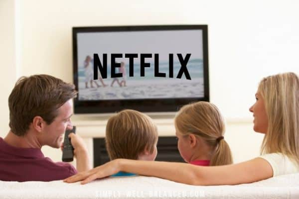 Good Clean shows on Netflix for families. Family watching Netflix together.