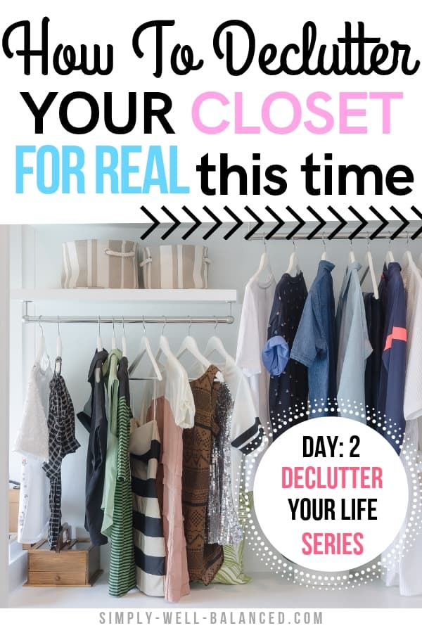 How to declutter your clothes closet