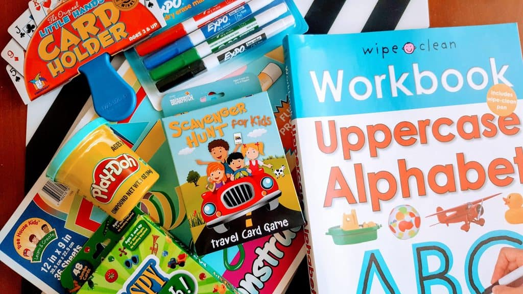 Toys and activities to keep kids busy on long car rides.