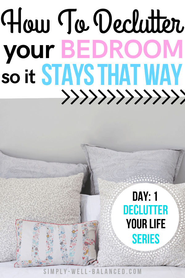 How to maintain a clutter free bedroom