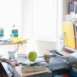 a messy room overwhelmed with clutter