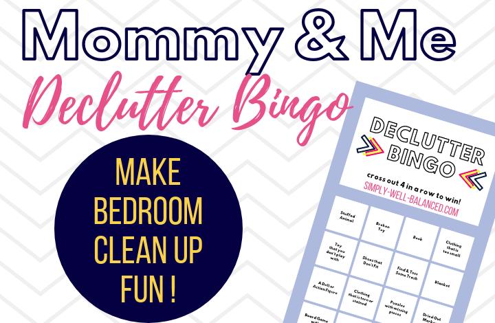 Declutter Kids Bedroom Bingo