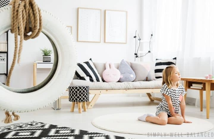 Modern Minimalist Playroom Decor