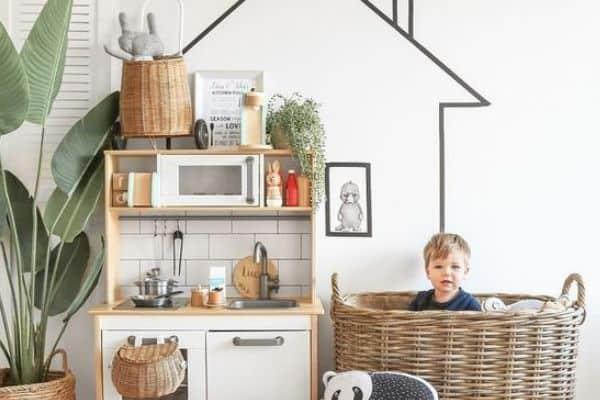 Modern playroom kitchen