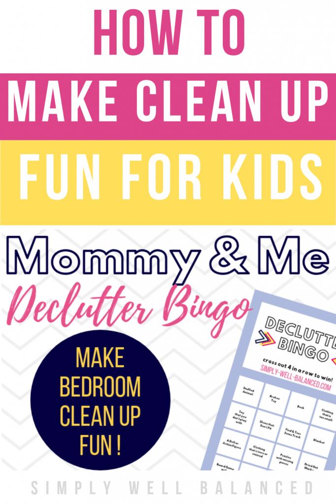 Fun Kids Declutter Bingo Game