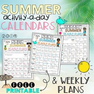 Summer Activity Calendars for Kids