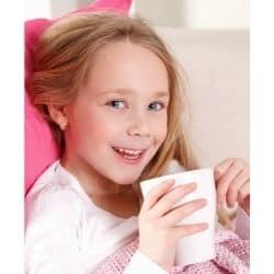 child drinking homemade pedialyte