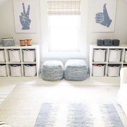 Modern minimalist playroom