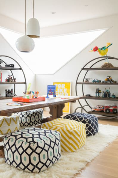 Modern minimalist playroom decor