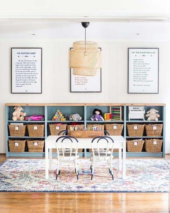 Montessori minimalist playroom