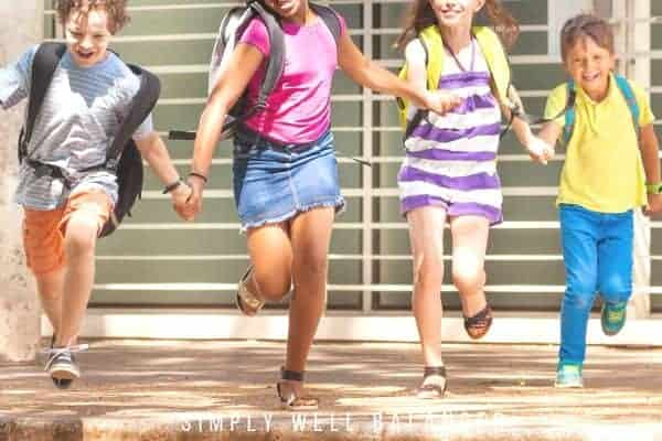 Kids running out of class on the last day of school to celebrate