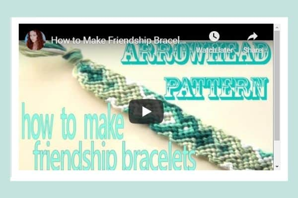 How to make friendship bracelets: Arrowhead Pattern