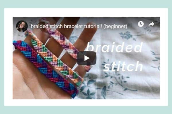 Beginner Braided Stitch Friendship Bracelet Tutorial Video