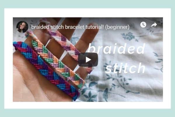 Beginner Braided Stitch Friendship Bracelet Tutorial Video