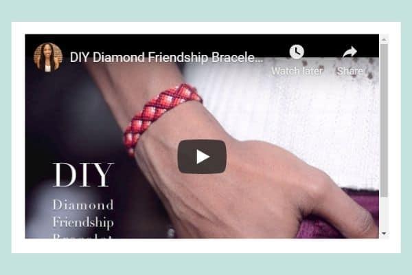 DIY Diamond Friendship Bracelet