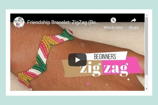 Friendship Bracelet: Beginner pattern Zig Zag