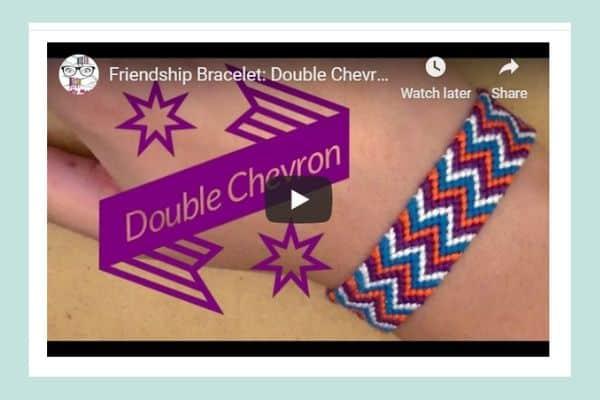 Friendship Bracelet Pattern: Double Chevron