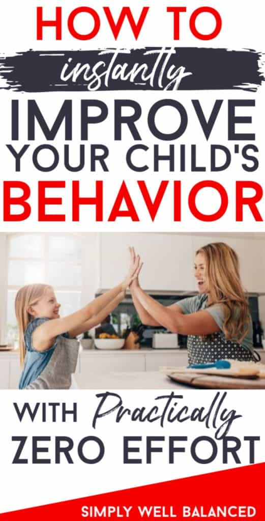 How to instantly improve your child's behavior. Mother daughter hi five.
