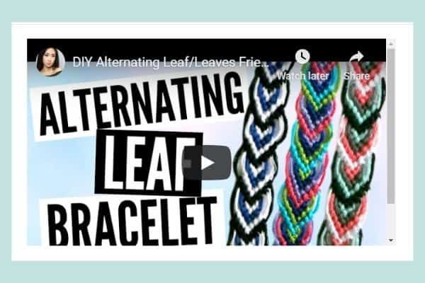 Leaf friendship bracelet pattern video tutorial