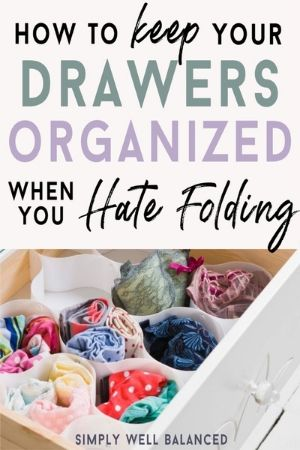 Dresser Drawer Organizers inspired by Marie Kondo
