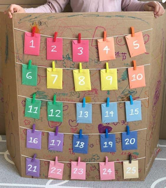 Simple kids advent calendar diy