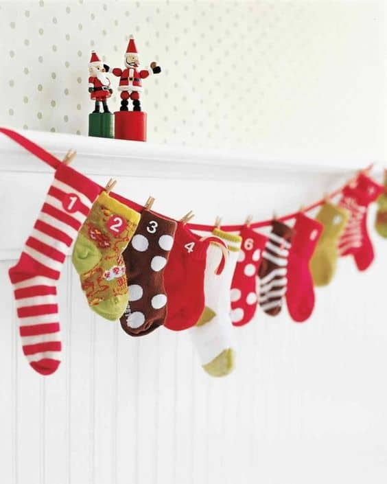 sock diy advent calendar