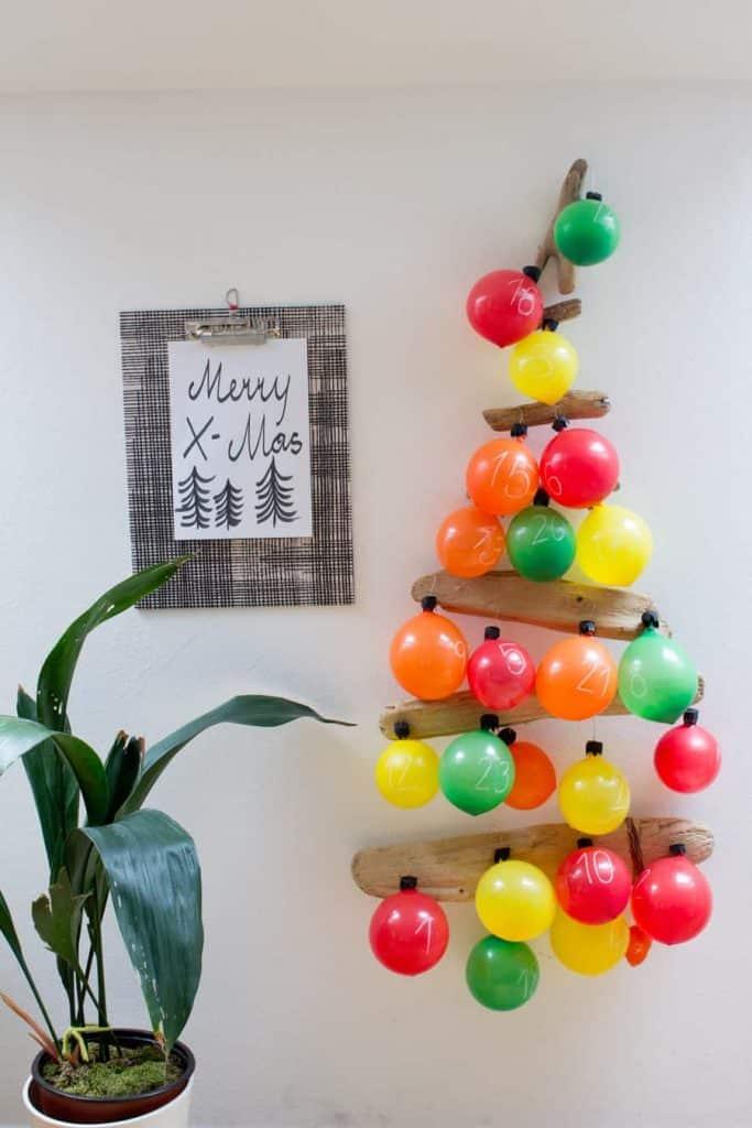 balloon christmas countdown