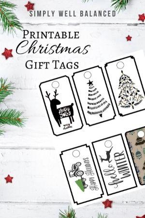 Free Printable Farmhouse Christmas Gift Tags