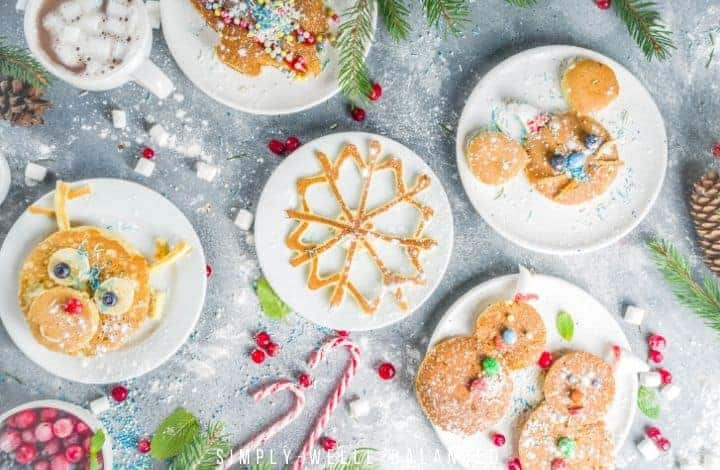 Fun Christmas Pancakes for Kids
