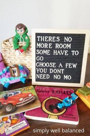 Elf on the Shelf Letterboard message: Toy Donation