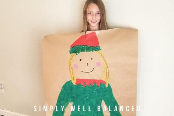 Elf Yourself- Holiday Body Tracing Art for Kids
