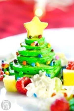 Christmas Tree Pancakes for kids