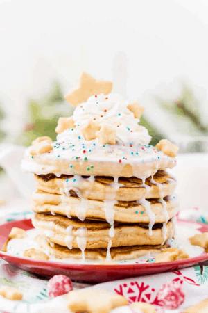 Christmas Morning Sugar Cookie Pancakes