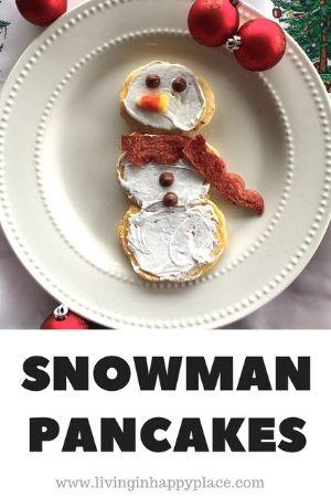 Snowman Pancakes for Kids