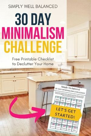 30 day minimalism challenge with printable pdf