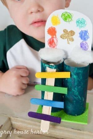 Easy Preschool Leprechaun Trap - cardboard tubes