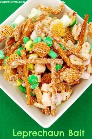 Leprechaun Bait St. Patricks Day Snack Mix for Kids