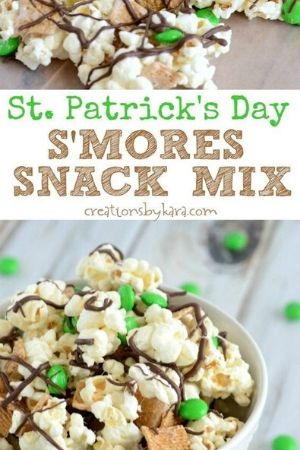 St. Patrick's Day S;mores Snack Mix