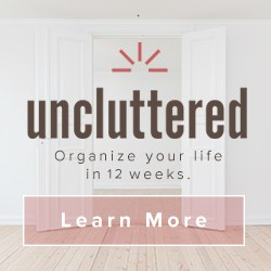 Uncluttered course enrollment