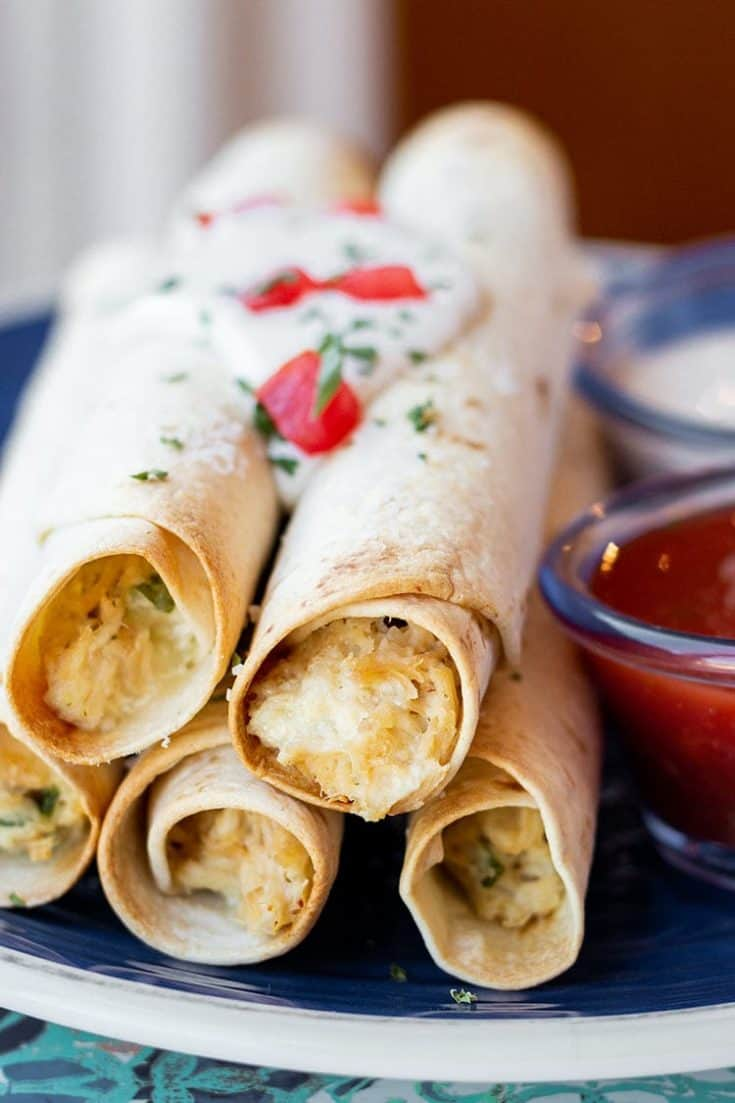 Chicken Bacon Ranch Taquitos | Make-Ahead Meal Mom