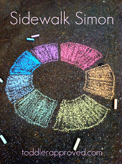 Sidewalk Simon: Colors of The Rainbow Learning Activity